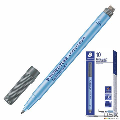 Маркер универсальный для любой гладкой поверхности со стирателем STAEDTLER, ЧЕРНЫЙ, 0,6мм, 305F-9