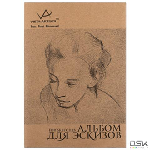 Альбом-скетчбук А4 (210х297мм), тонированная бумага, 120л, 100г/м, VISTA-ARTISTA, шк51867