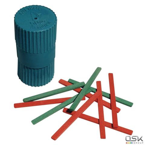 Счетные палочки (50 шт.) двухцветные, из натурального дерева, в пластиковом тубусе, С 21