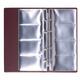 Визитница на 4-х кольцах четырехрядная на 160  визитных, дисконт. или кред.карт, бордов,ДПС,2006-103
