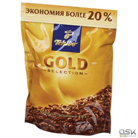 """Кофе растворимый TCHIBO """"Gold selection"""", сублимированный, 285г, мягкая упаковка, 10199"""