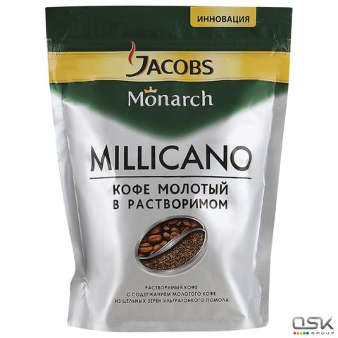 """Кофе молотый в растворимом JACOBS (Якобс) """"Millicano"""",150г, мягкая упаковка,ш/к 78165"""