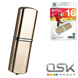 Флэш-диск 16GB SILICON POWER LuxMini 720 USB 2.0, металл. корпус, бронзовый, SP016GBUF2720V1Z