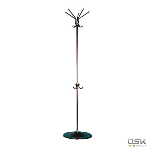 Вешалка-стойка СС, 1,8 м, диск 39см, 5 осн.+3 доп.крючка, металл, черная, ш/к 80079