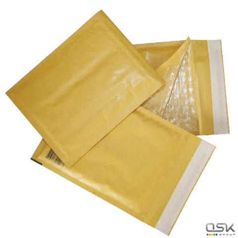 Конверт-пакеты с просл. из пузыр. пленки (240х330мм), крафт, отрыв.полоса,  КОМПЛЕКТ 10шт, G/4-G.10