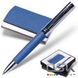 "Набор GALANT ""Prestige Collection"": ручка, визитница, синий ""фактурная кожа"", подар.кор., 141376"